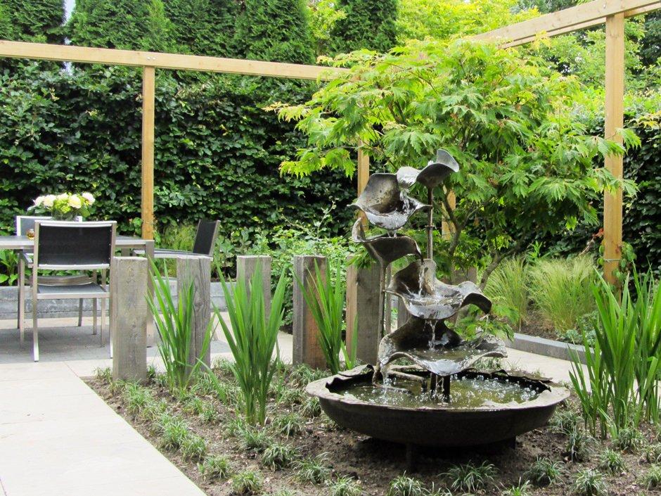 Stijlvolle comfort achtertuin van jaarsveld tuinen