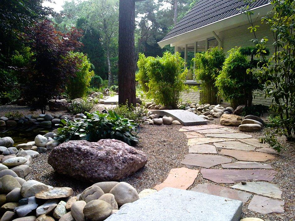Japanse tuin met vijvers bilthoven van jaarsveld tuinen for Eigen moestuin ontwerpen en aanleggen