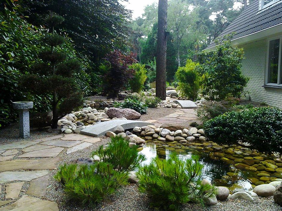 Japanse tuin met vijvers bilthoven van jaarsveld tuinen for Zen tuin aanleggen