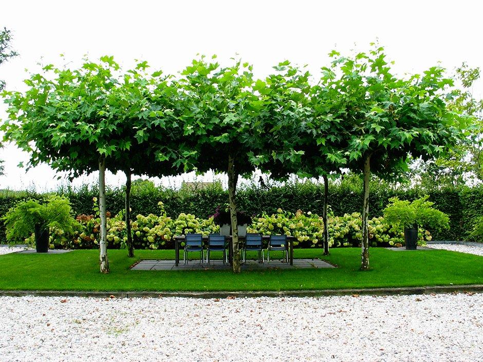 Landelijke tuin met strakke vlakverdeling van jaarsveld for Mooie voortuinen foto s