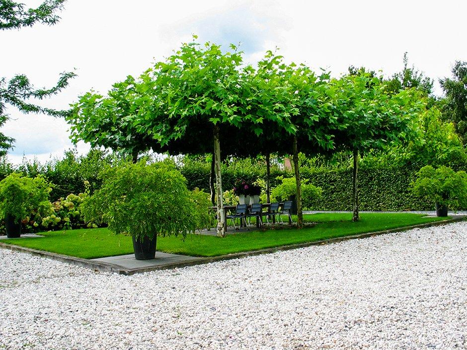 Landelijke tuin met strakke vlakverdeling van jaarsveld for Tuinen aanleggen foto s