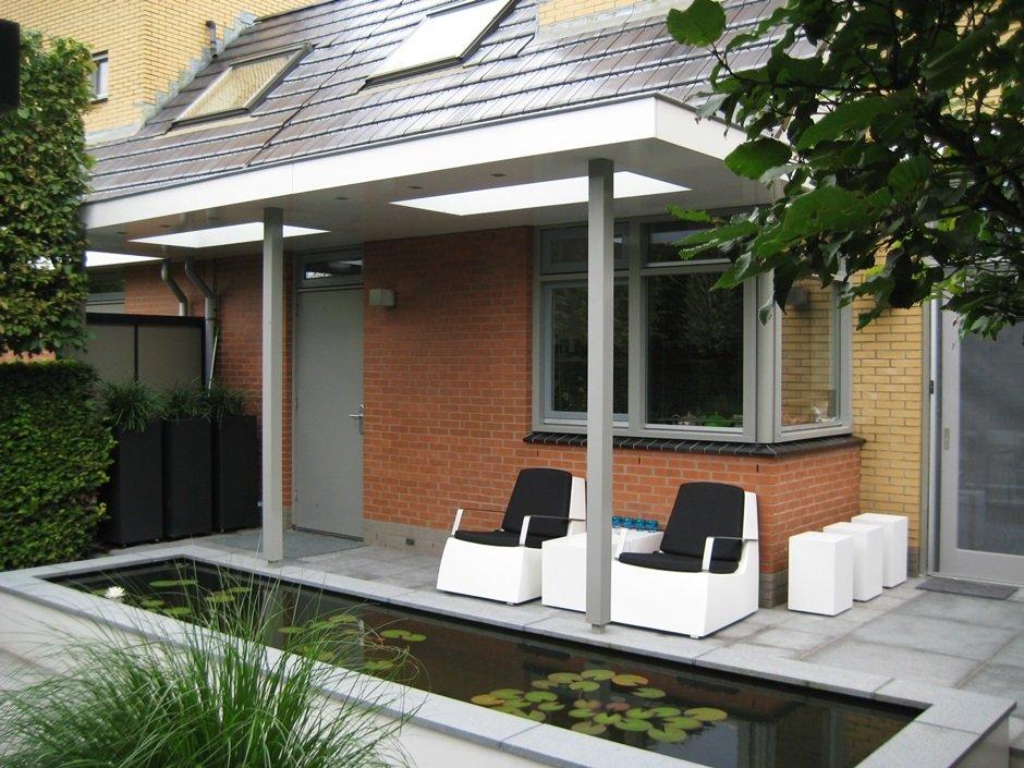 Tuinaanleg moderne strakke design achtertuin van for Tuinaanleg modern