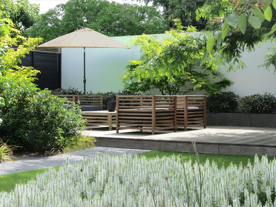 Lounge tuin in ijsselstein van jaarsveld tuinen for Vacature tuin