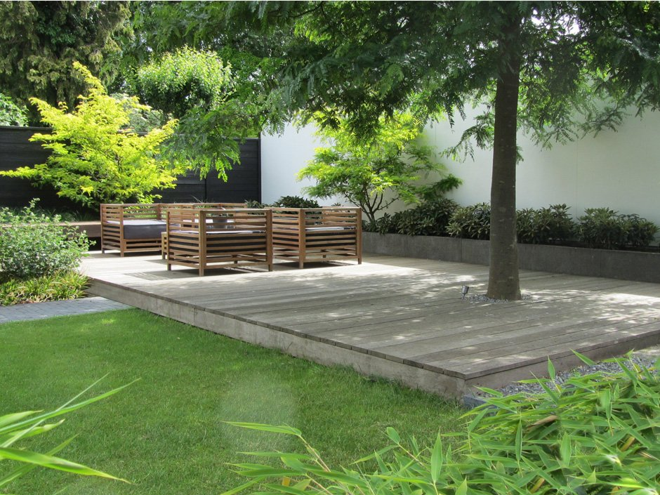 Lounge tuin in ijsselstein van jaarsveld tuinen